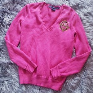 Vintage polo sport Ralph Lauren pink knit sweater